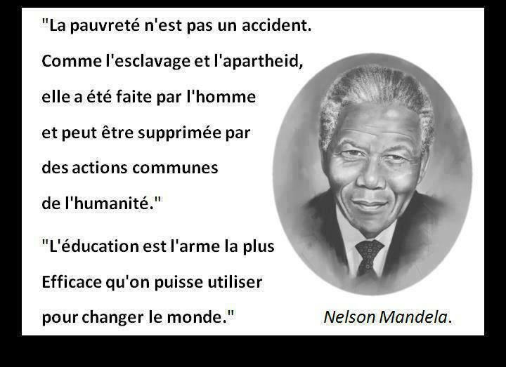 Préférence NELSON MANDELA : MERCI MONSIEUR POUR CE MONDE MEILLEUR…. | Billet  GI42